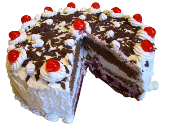 By Mikelo (edited by User:Sashandre, User:Kozuch, User:Ras67 and User:MLWatts) (File:Black Forest gateau.jpg) [CC-BY-SA-3.0 (http://creativecommons.org/licenses/by-sa/3.0)], via Wikimedia Commons